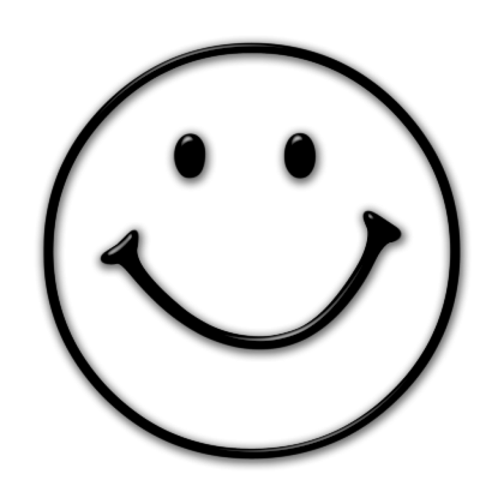 clipart smiley face outline