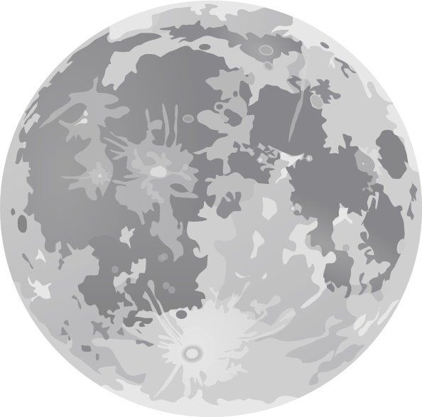 full moon clipart drawing