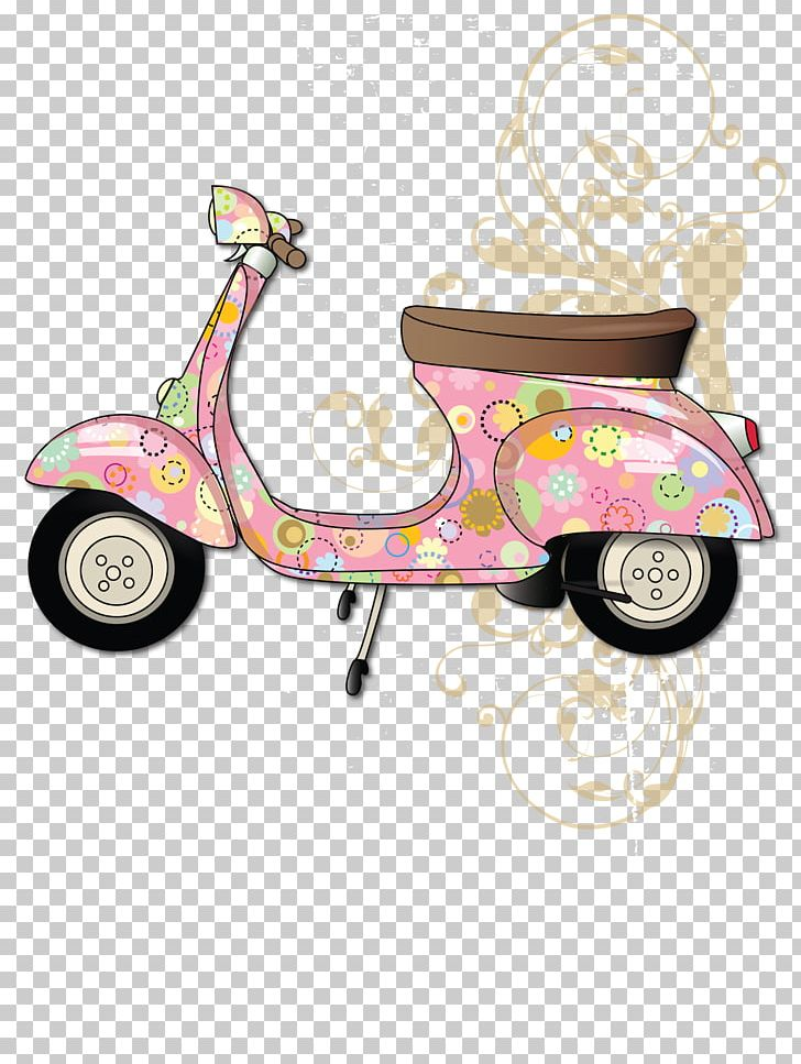 Motorized clipart drawing.