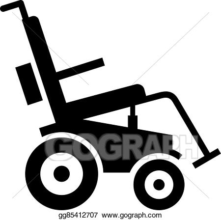 Motorized clipart. Vector stock electric wheelchair