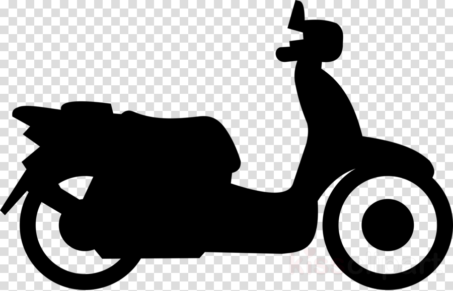 Motorized clipart moped.