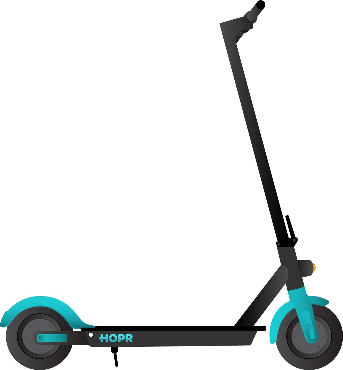 Motorized clipart scooter.