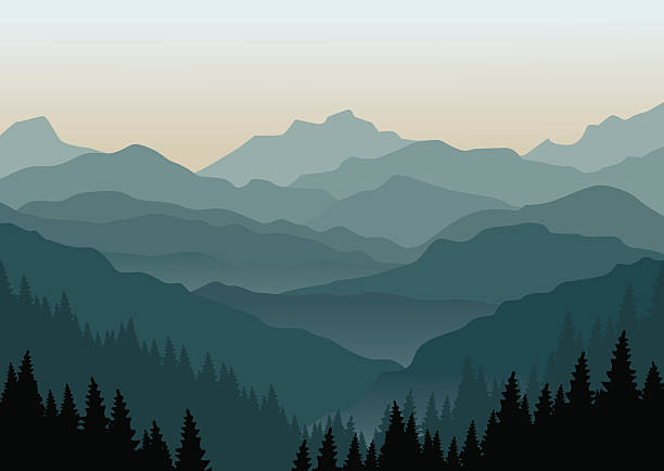 Mountains clip art.