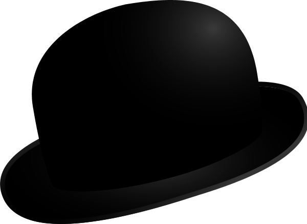 magaritte clipart bowler hat