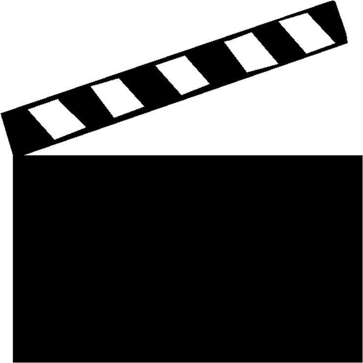 Movies clipart clapboard.