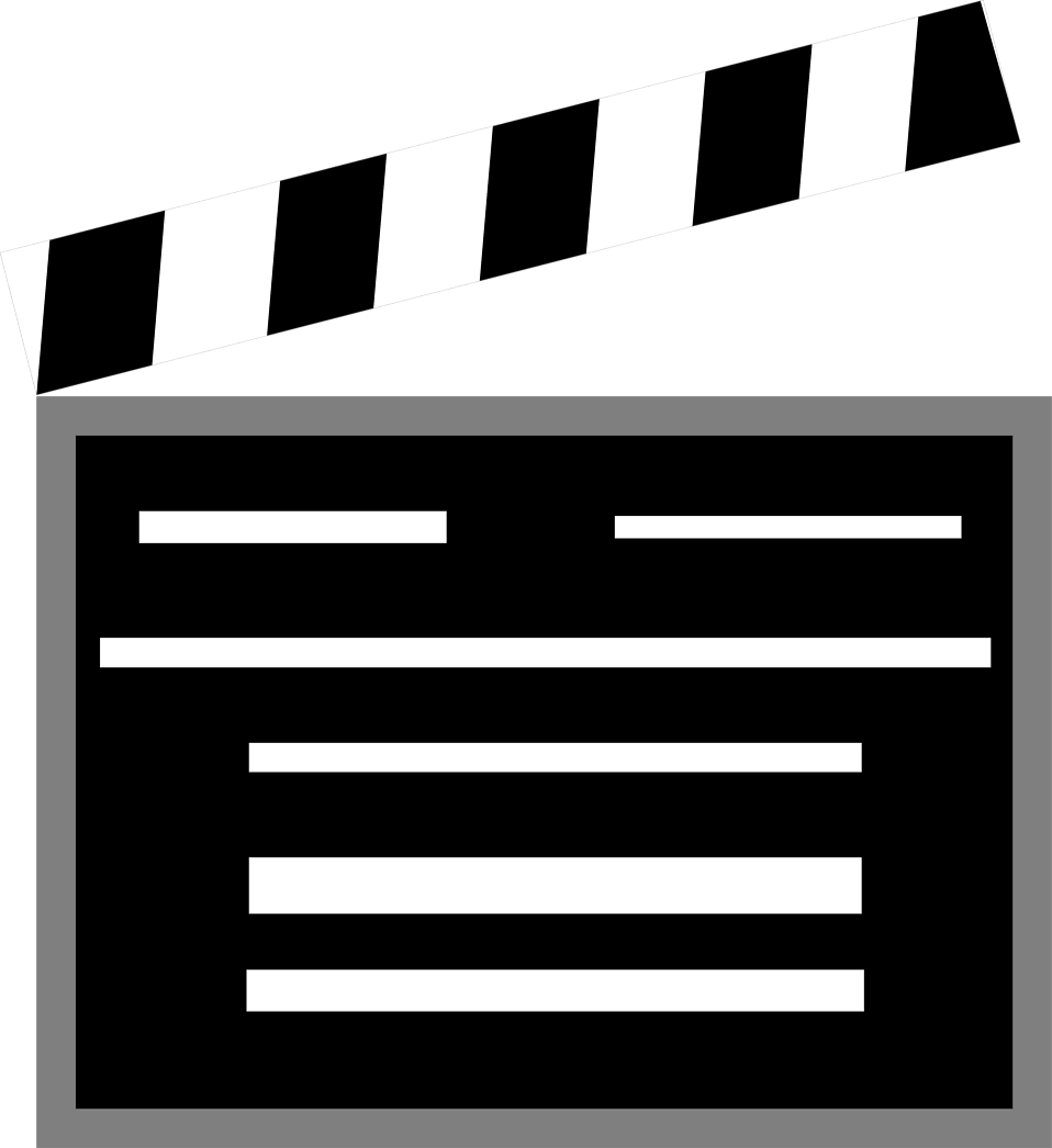 Movies clipart clappers.