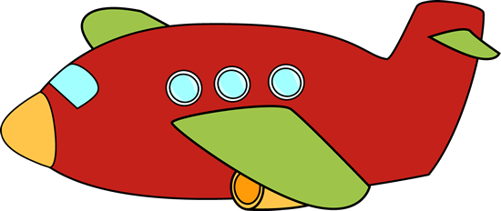 clipart airplane red