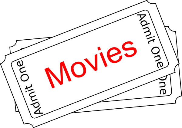 Movies clipart black and white.