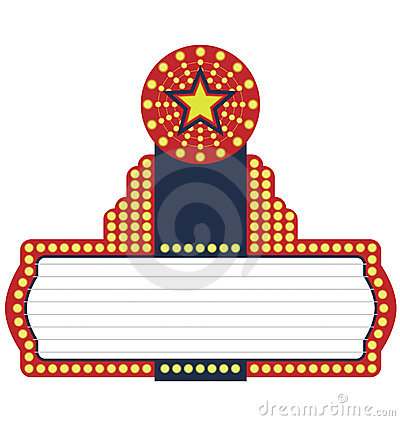 Movies clipart marquee.