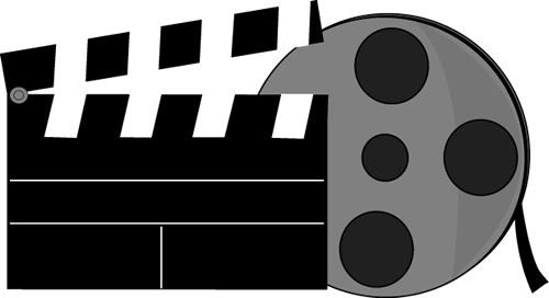 Movies clipart movie themed.