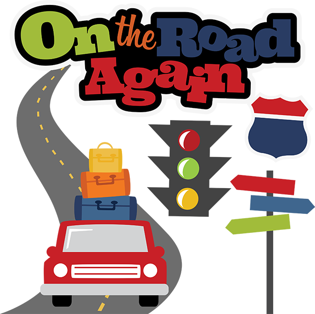 road trip clipart cross country