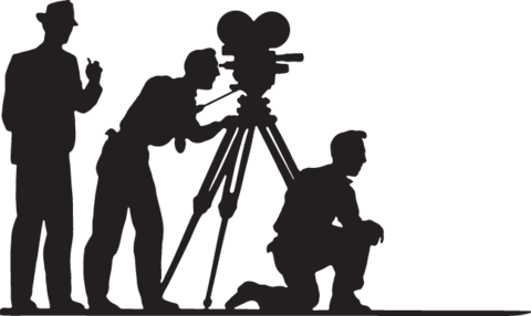 Movies clipart silhouette.