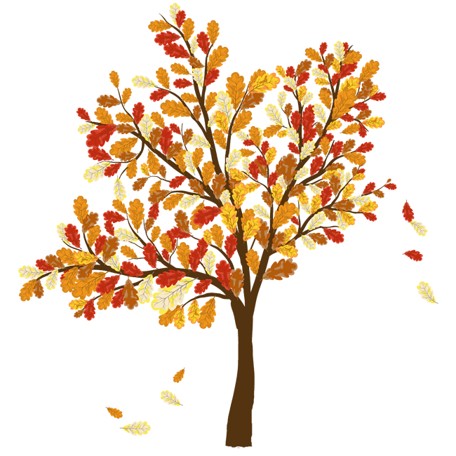 fall leaves clipart tree