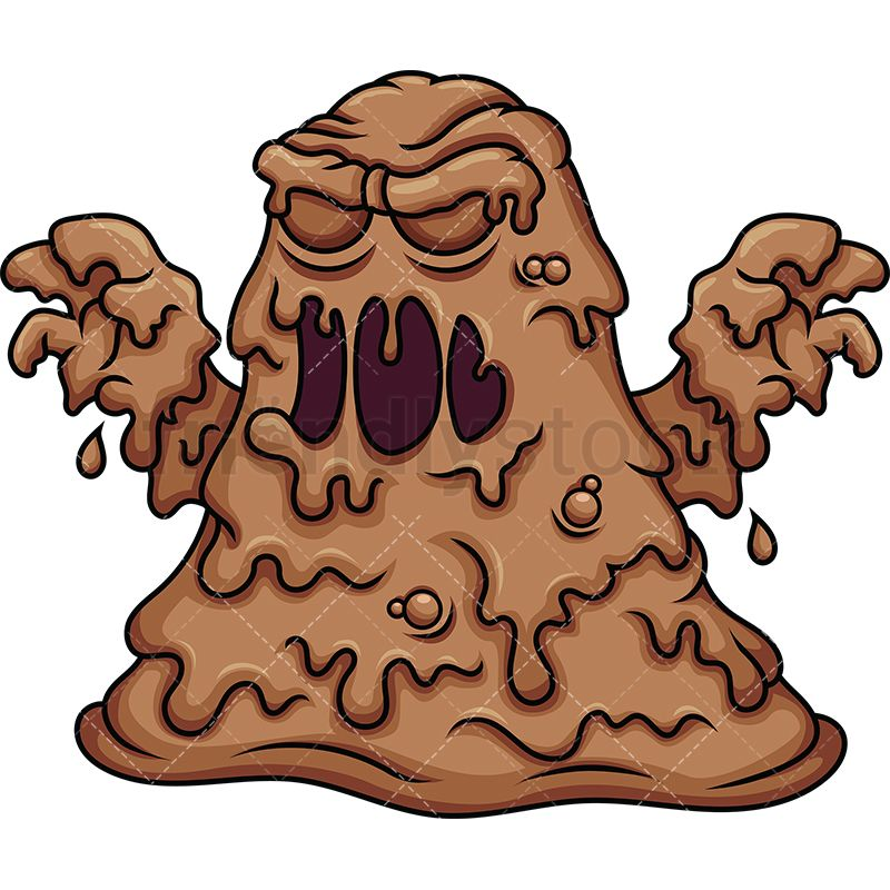 Mud clipart brown.