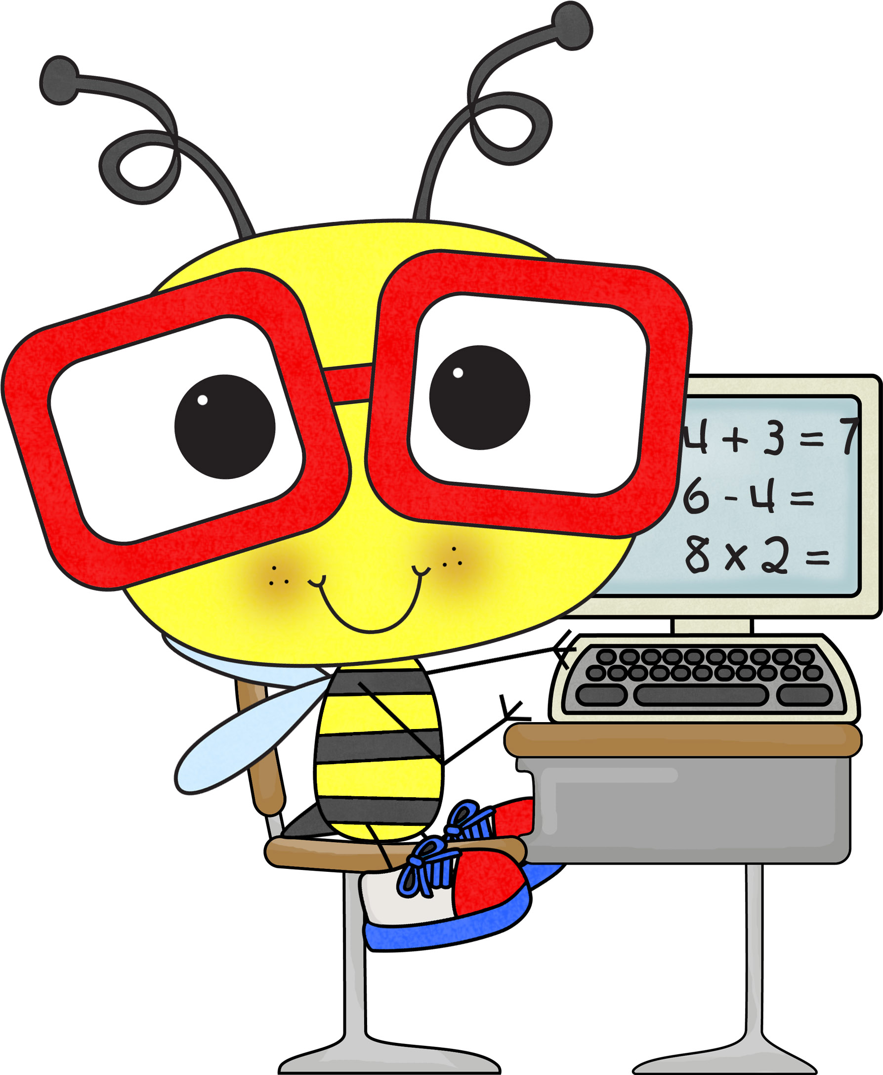 Multiplication clipart bee.