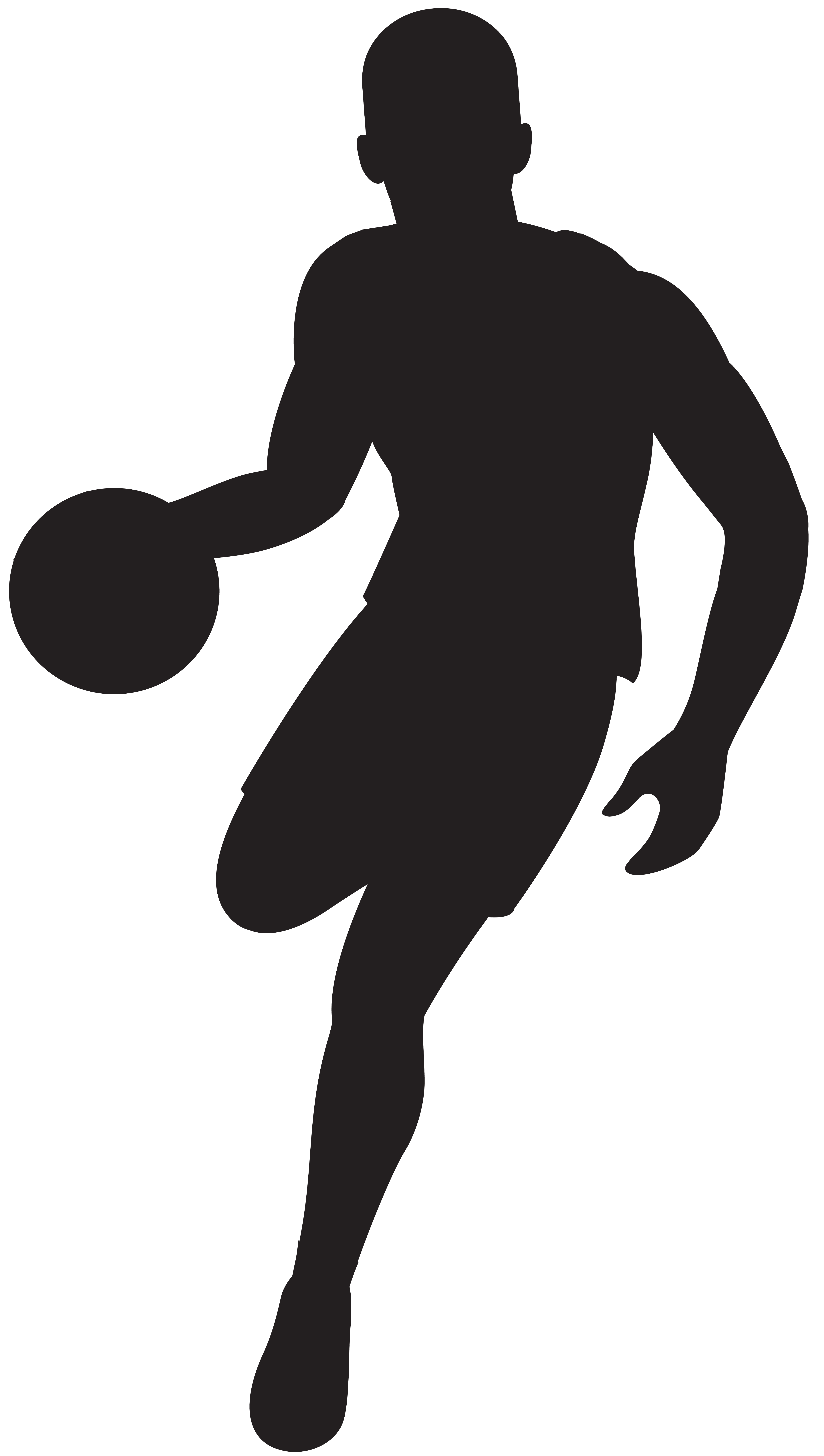 clipart basketball silhouette