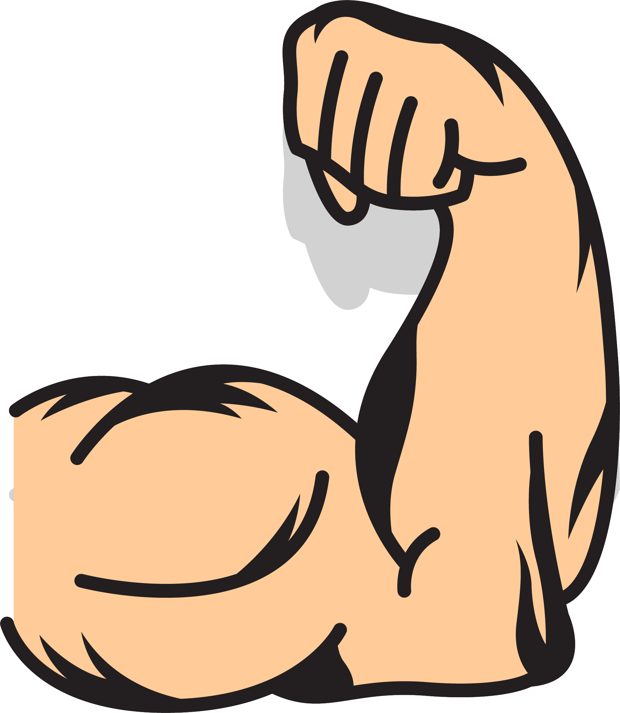 muscle clipart brawny