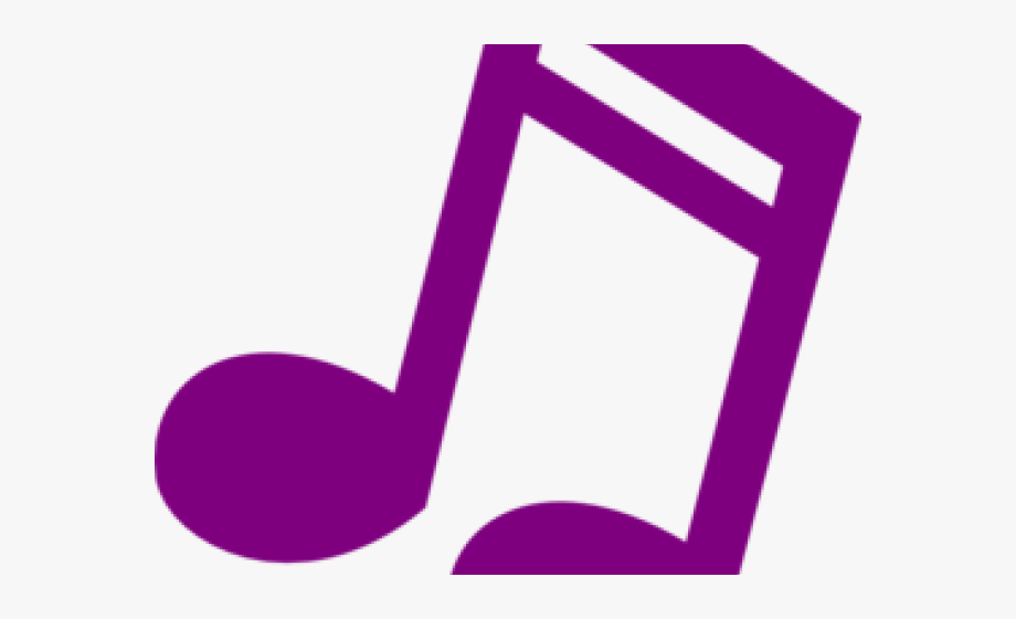 musical note clipart purple