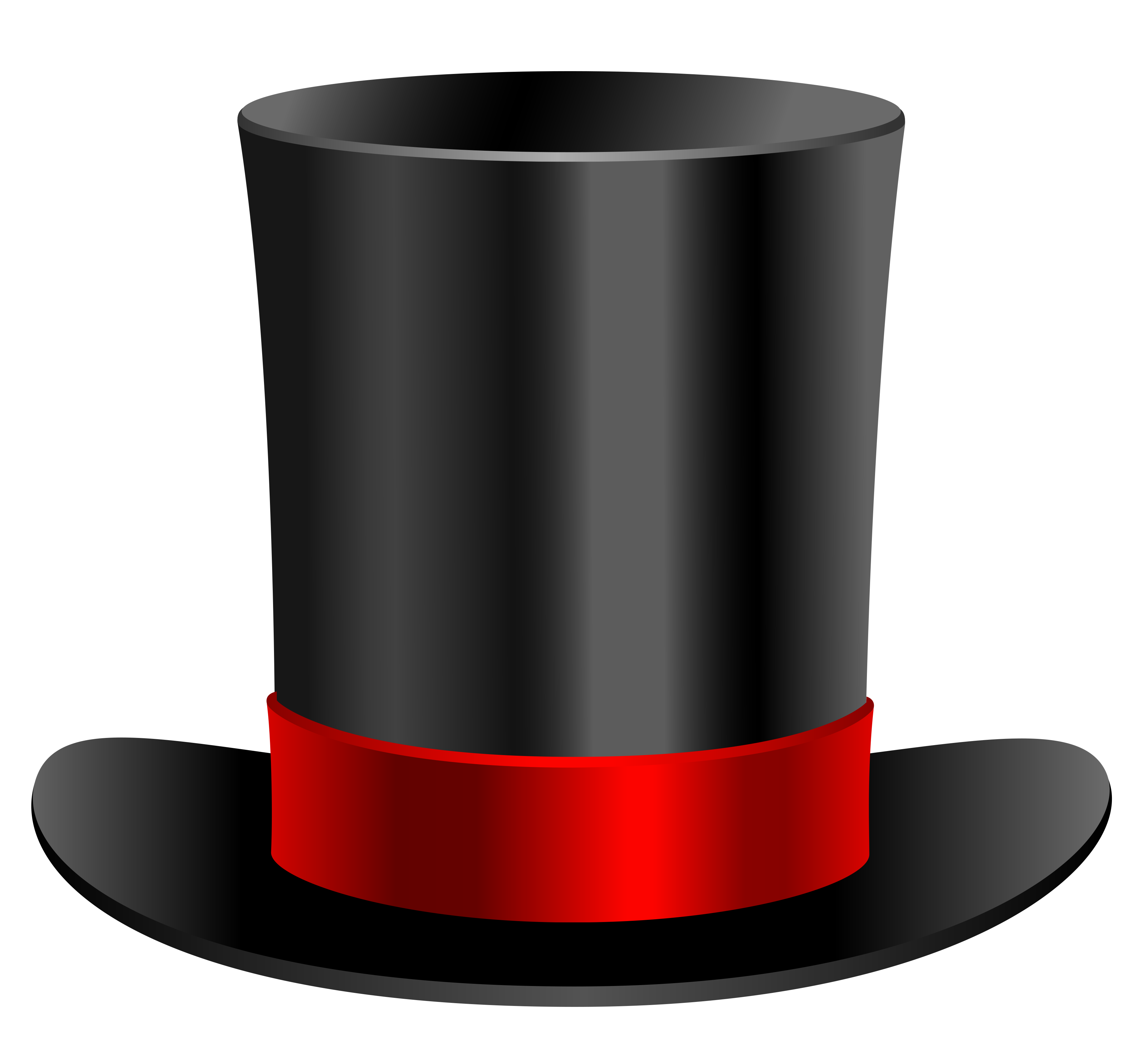 top hat clipart upside down