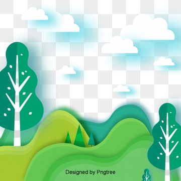 Nature clipart psd.