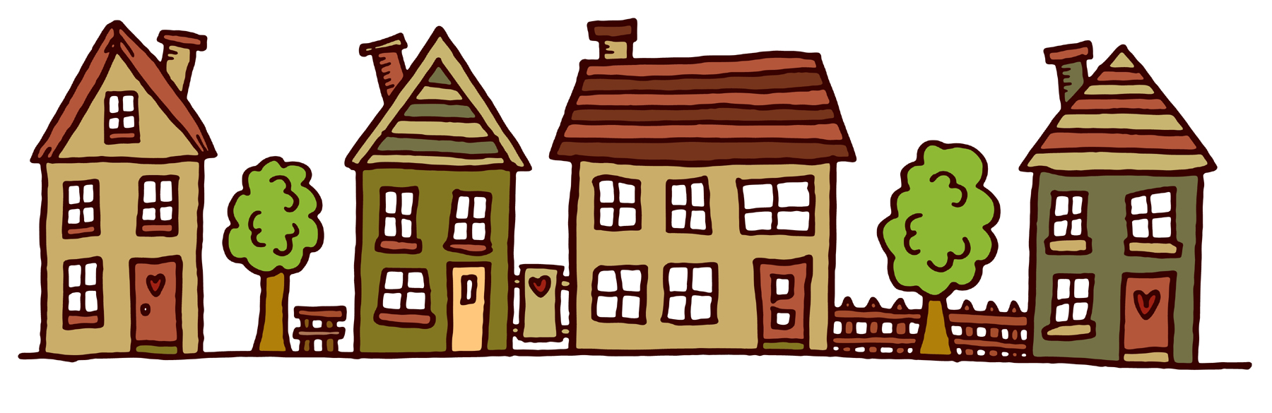 Comprised clipart house.