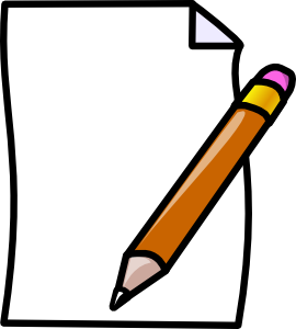 paper and pencil clipart homework