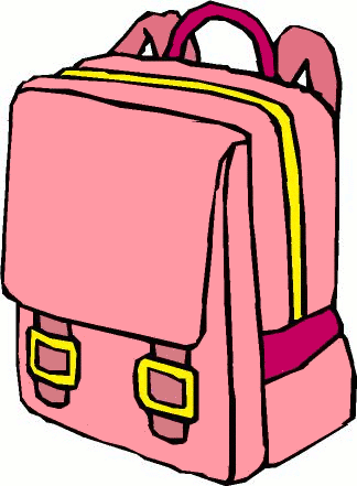 suitcase clipart pink