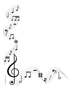 musical note clipart borders