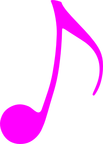 musical note clipart pink