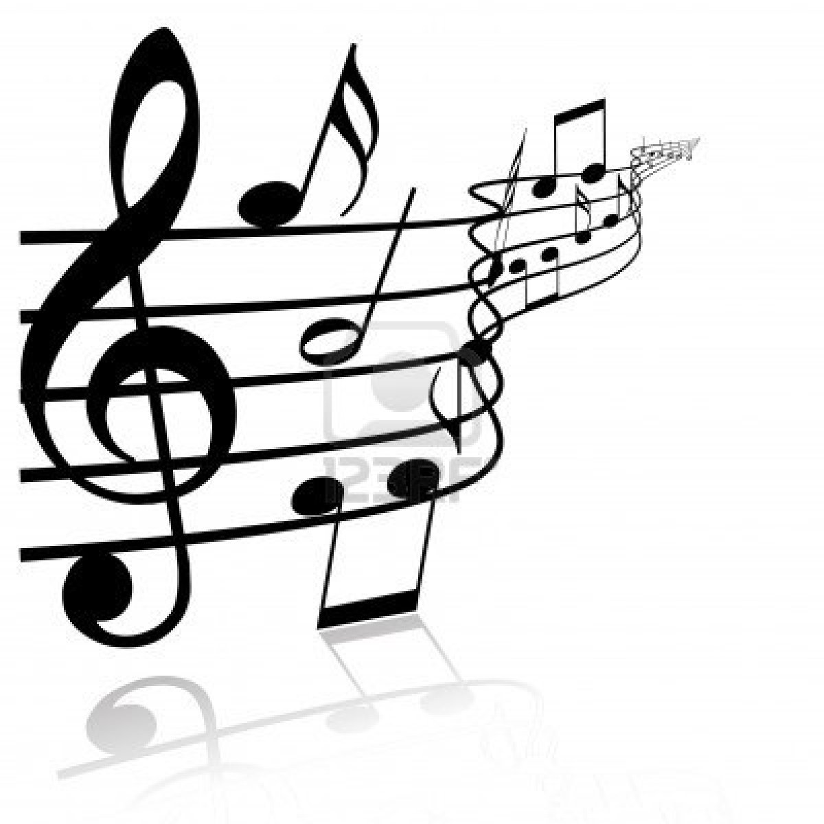 Music clipart drawings.
