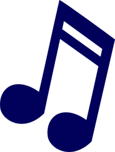 musical note clipart blue