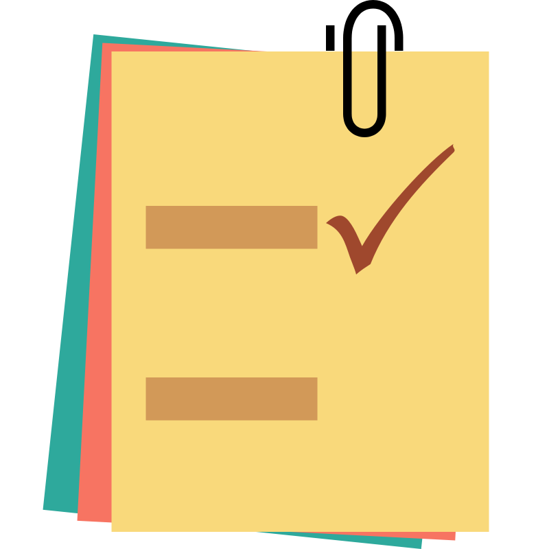 Notes clipart checklist.