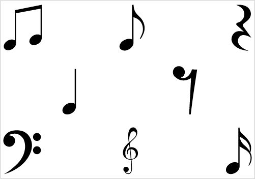 free music clipart vector