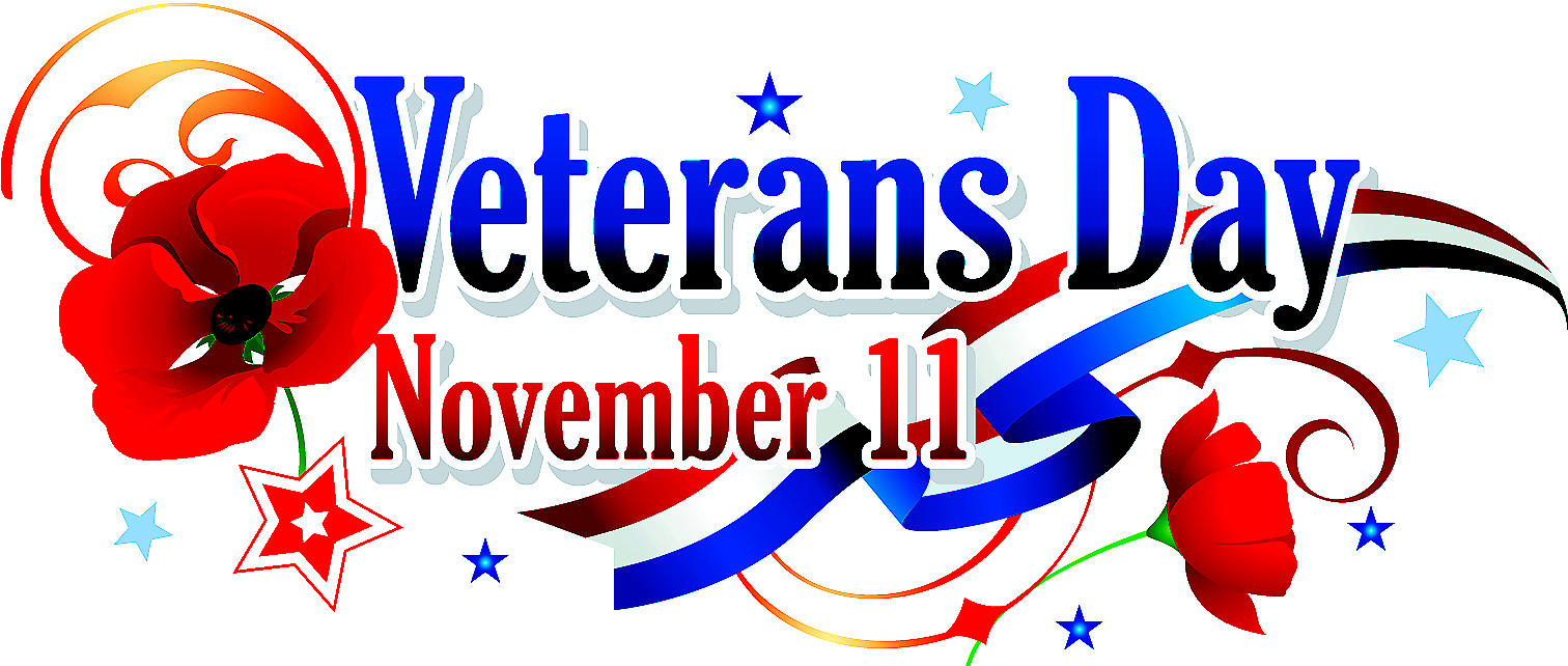 Veterans day clipart word.