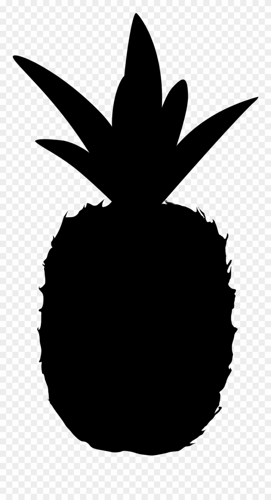 pineapple clipart black and white silhouette