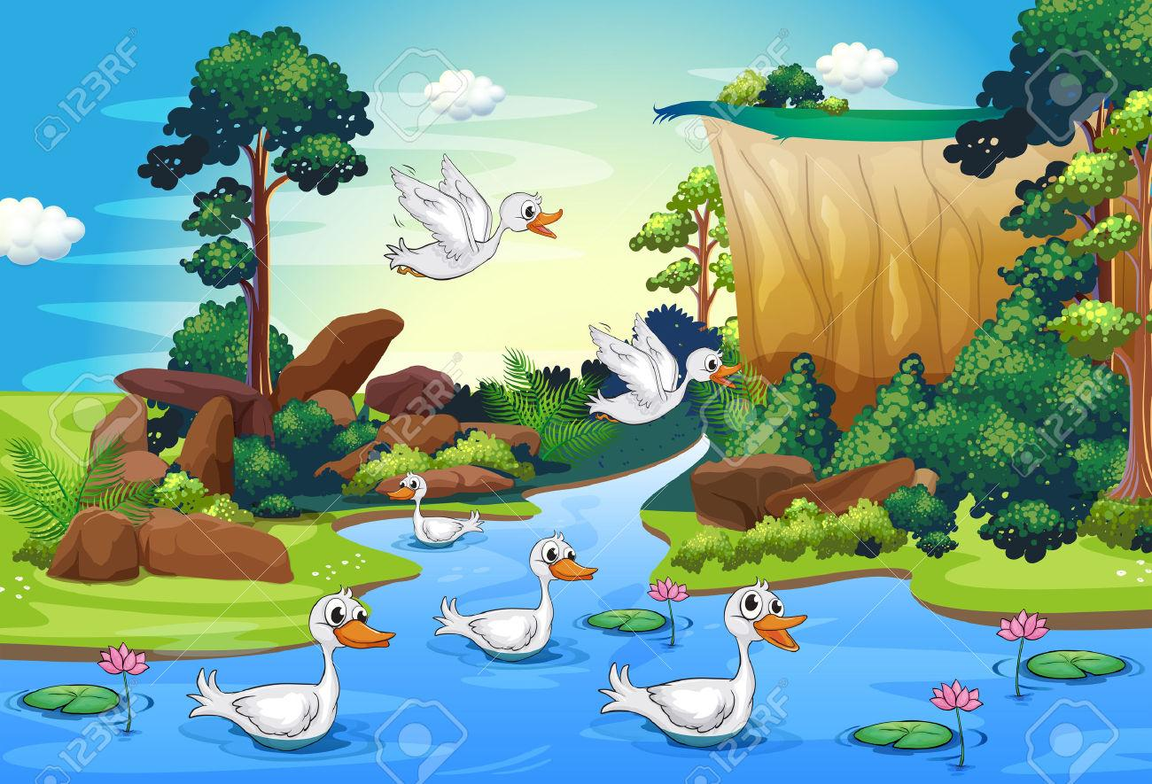 river clipart forest