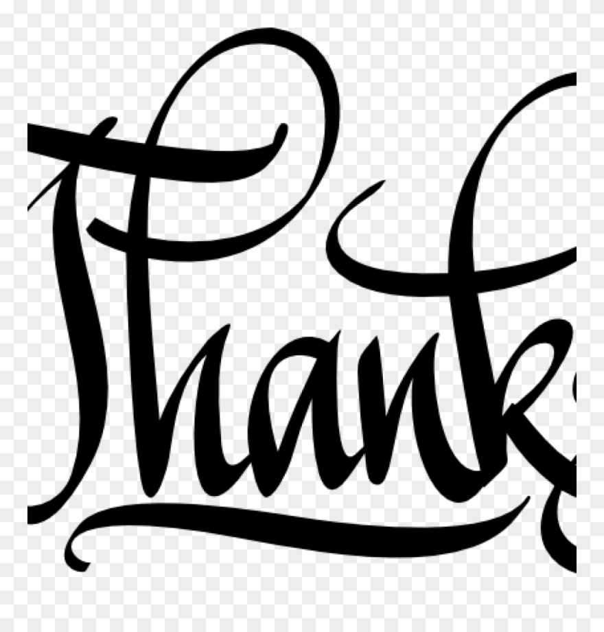 clipart thank you calligraphy