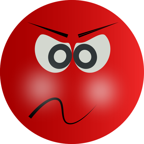 Openclipart org angry smiley.