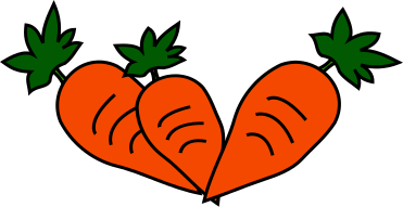 Carrot clipart single fruit vegetable.