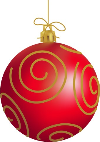 ornament clipart red