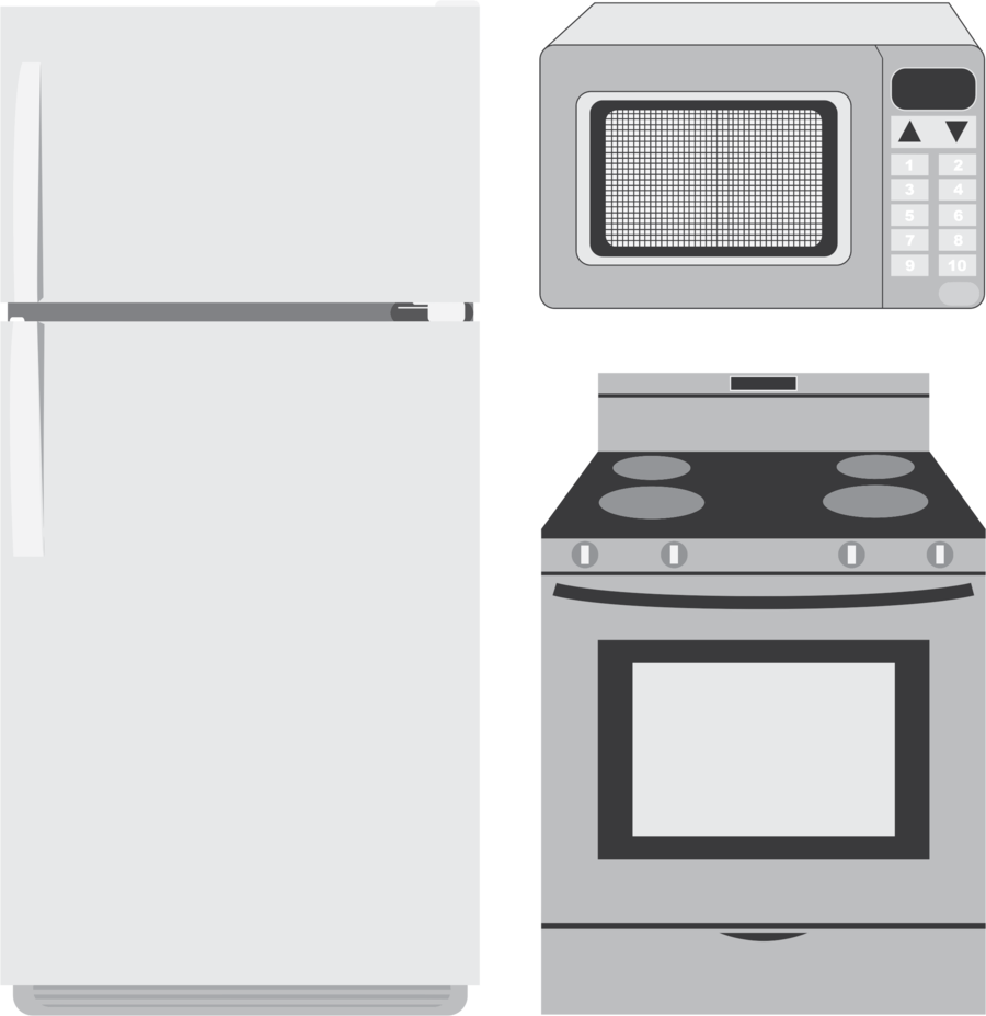 Motorized clipart electronic appliance.