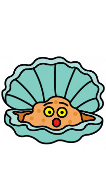 Clam clipart pearl drawing.