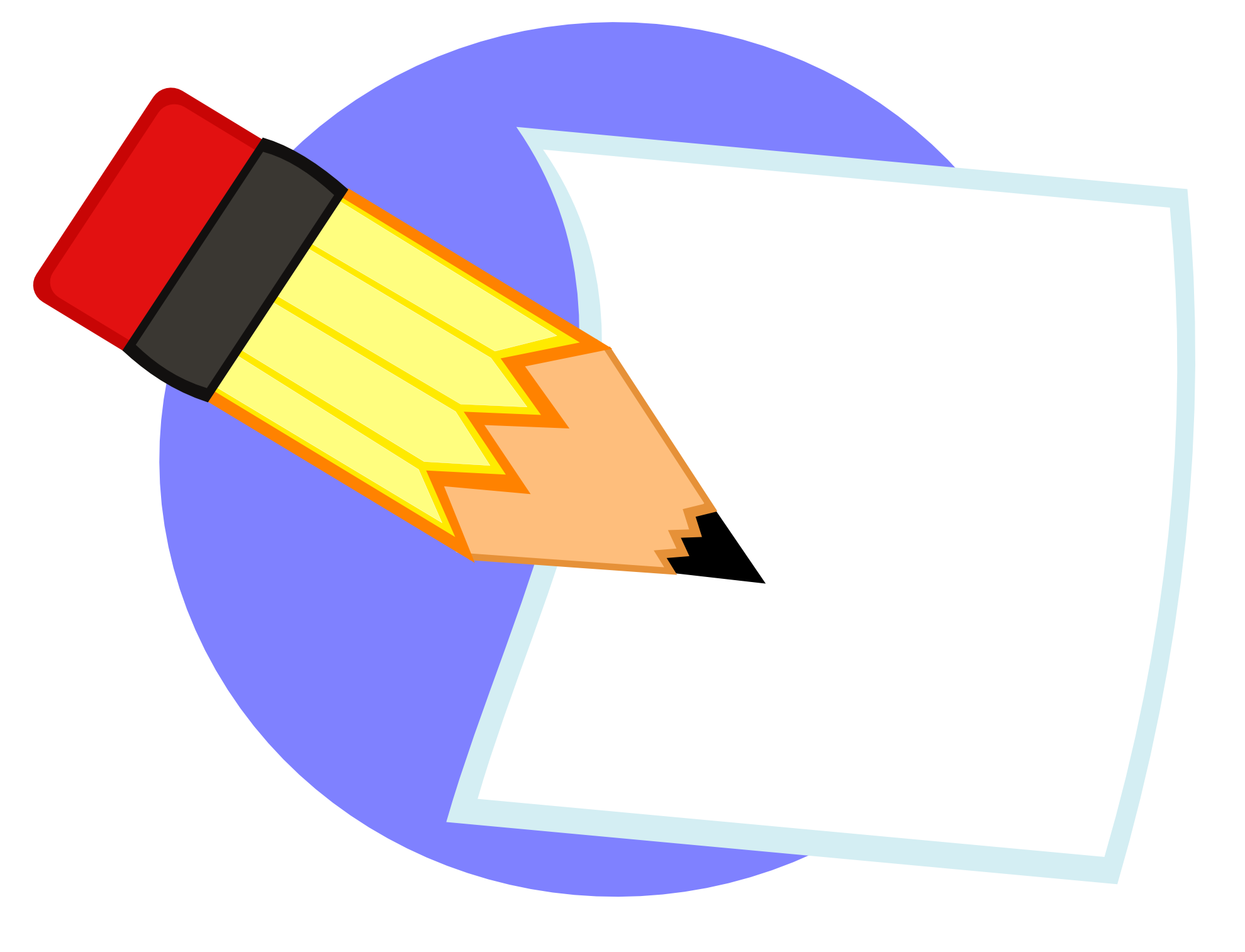 paper and pencil clipart writing