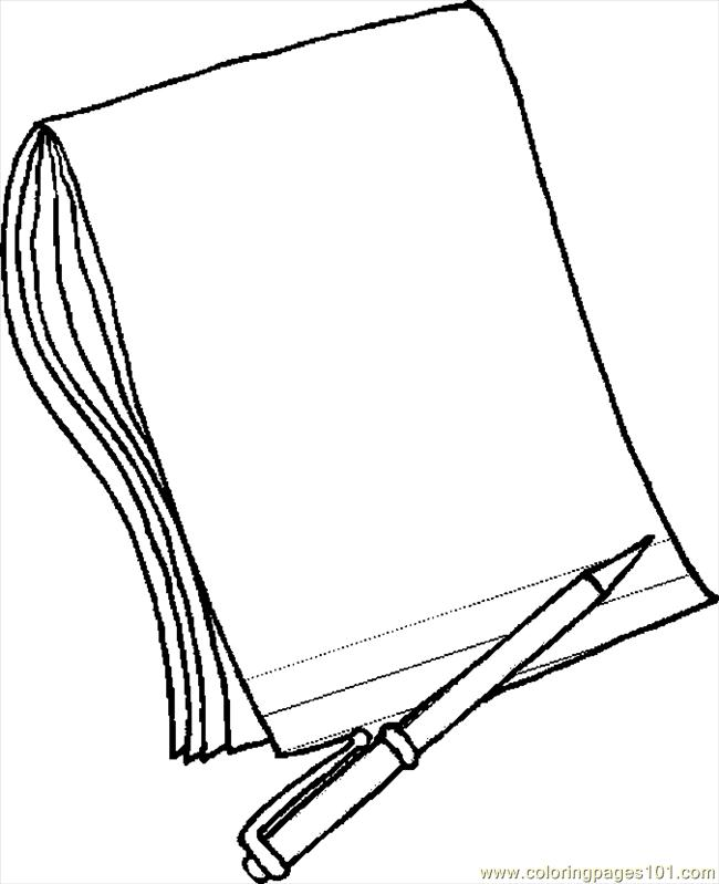 paper and pencil clipart white