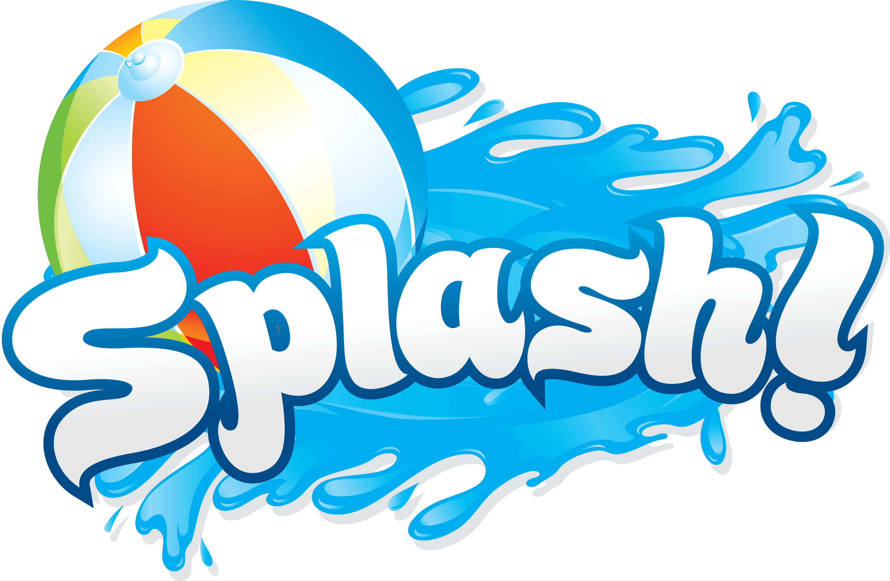 pool party clipart border