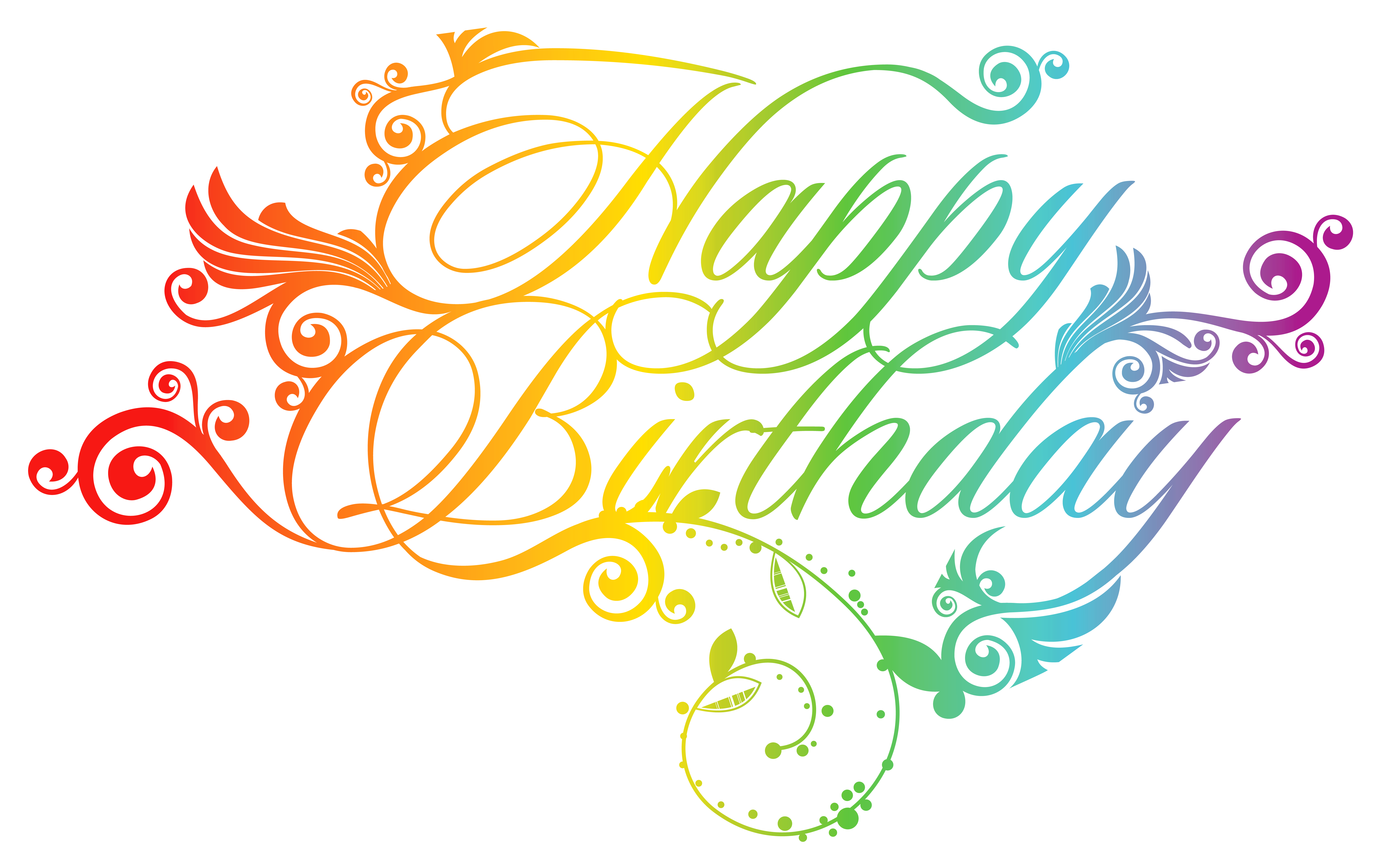 happy birthday clipart colorful
