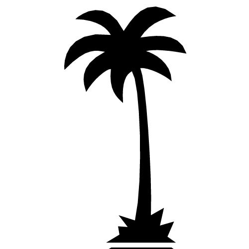 Palm clipart silhouette.