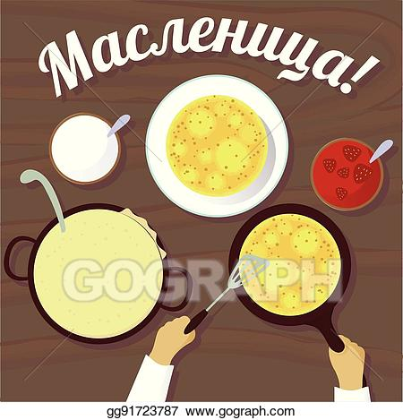 Pancakes clipart top view.