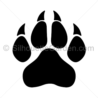 paw print clipart panther