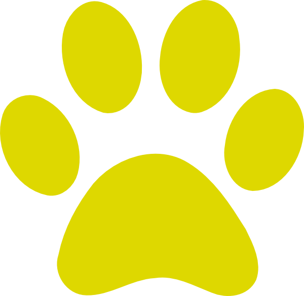 paw print clipart gold